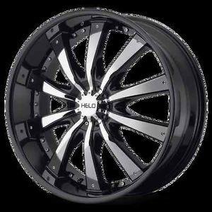 """22"""" Helo 875 Black Chrome Wheels Rims Chevy Ford 1500 F150 6 Lug 6 5 5 6 135"""