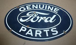 Genuine Ford Parts Porcelain Advertising Gas Oil Pump Station Signs Automobilia