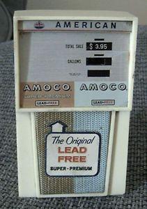 Beautiful 1960s Amoco American Car Gas Station Pump Novelty Transistor Am Radio