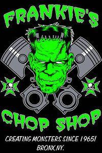 Frankenstein Custom Graphic T Shirt Rockabilly Rat Hot Rod Garage
