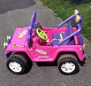 Power Wheels Barbie Jammin' Jeep Girls Electric Car Toy