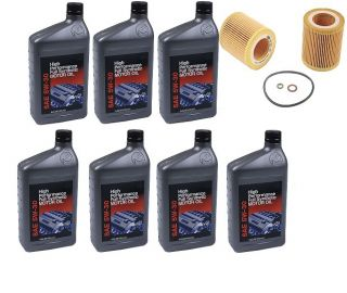 New 7 Quarts Genuine Synthetic BMW 5W30 Motor Oil 1 Mann Oil Filter BMW 325xi