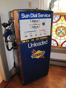 Authentic Sunoco Wayne Blend O Matic Gas Pump Perfect for Muscle Car Display