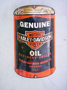 Harley Davidson Porcelain Oil Rack Sign Gas Pump Panhead Oil Can Auto Store Lube