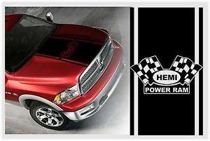 Dodge RAM Truck Hemi Power RAM Hood Stripe Kit Vinyl Decal Sticker