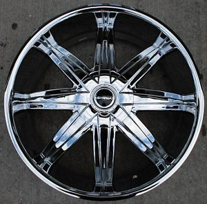 "Strada Magia 282 22"" Chrome Rims Wheels Lincoln LS Ford Taurus 22 x 8 5 5H 40"