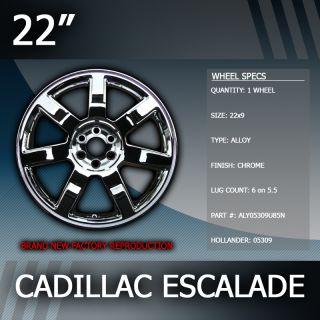 2007 2012 Cadillac Escalade Factory 22 inch Replacement Wheel