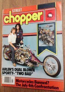May 1980 Street Chopper Motorcycle Magazine Arlen Ness Harley Abate Mikuni Carbs