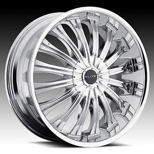 "22"" Elite Monarch Chrome Wheel Tire Package Rims 5 6 Lug Dodge Cadillac Audi"