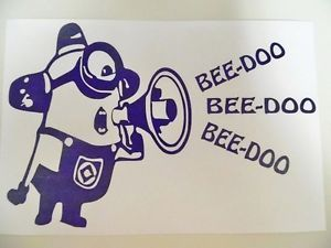 Minion Despicable Me Beedoo Funny Car Truck Window Vinyl Decal Sticker
