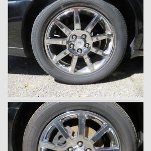 "4 Cadillac 18"" Chrome Wheels Rims DeVille DTS 00 11 Caddy STS Eldorado RARE"