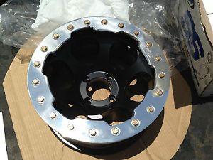 """12"""" ITP Type 7 Beadlock Wheel Black Aluminum 4 110 Honda Rear ATV UTV Wheel"""