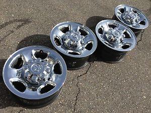 "4 17"" Dodge RAM 2500 Laramie Cummins Factory Stock Chrome Wheels Rims 8x165"