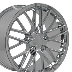 """19"""" 18"""" Corvette C6 ZR1 Chrome Wheels Set of 4 Rims Fit Chevrolet"""