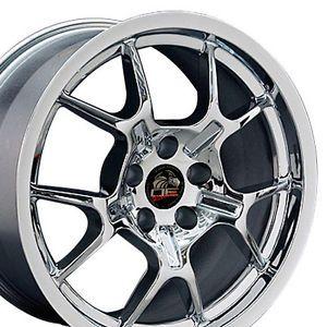 18 Chrome GT4 GT40 Wheels Rims Fit 2005 Mustang®