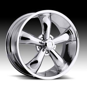 "17x7 Vision Chrome 17"" Wheels Rims Ford Mustang Torino Ranger Mercury Cougar"
