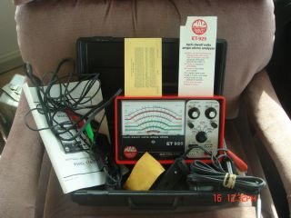 Mac Tools Et 925 Tach Dwell Volts Amps Ohms Tester Meter in Hard Case