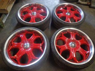 "93 02 Camaro Firebird Trans Am 22"" 245 30 22 Wheels Rims Tires Akuza Spur"