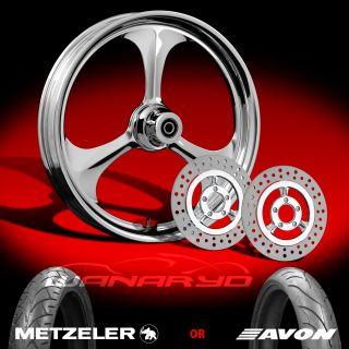 Wanaryd Amp Chrome Wheels Tires Rotors Pulley 2002 08 Harley V Rod 200 Tire