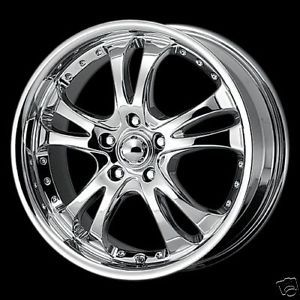 16 Chrome Casino Wheels Rims 5 Lug Altima Camry Civic Lexus Infiniti 5x4 5