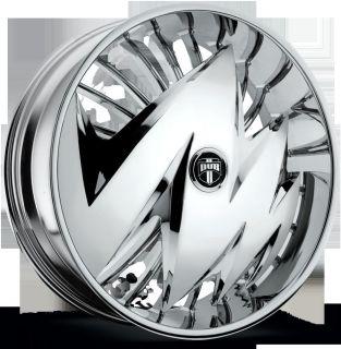 """Dub Spinner 24"""" Wheel Set Skirtz Spinners New Dub Ragged Spin Floater Spinner"""