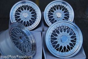 """15"""" Silver BBs RS Alloy Wheels Fits Ford Escort 4 Stud"""
