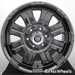 17x8 5 Black Chrome American Racing ATX Punisher Wheels 8x170 15 Ford
