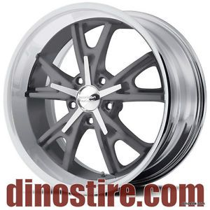 American Racing Daytona Wheels VN801 18x9 5x114 3 0 Grey w Machined Lip