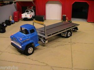 Custom M2 Chevy Day Cab Flat Bed Semi Tow Truck Wrecker Rollback 1 64 Chase