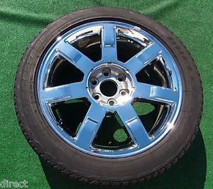 Genuine GM Factory Cadillac Escalade Chrome 22 Wheel Bridgestone Tire 5309