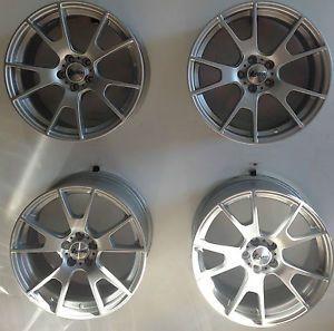 "Set 4 17"" Andros Spec D 5x100 Silver Custom Wheels Audi TT PT Cruiser VW Toyota"