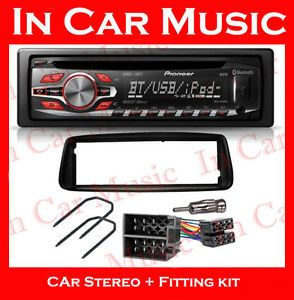 Peugeot 206 Car Stereo Fitting Kit Pioneer Bluetooth CD Player  USB Aux