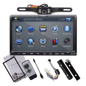 "In Dash Double 2Din 7"" Touch Radio Car CD DVD  Player Stereo Rear Camera"