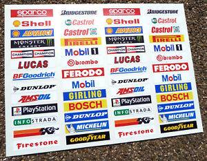 Slot Car Scalextric 1 32nd Barrier Stickers Decals X52
