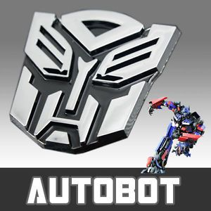 3D Transformer Autobot Emblem Metal Badge Chrome Sticker Decal Car Auto Logo