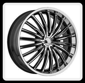 "20"" Panther 915 Spyder 5x120 Corvette Camaro GTO Black Wheels Rims Free Lugs"