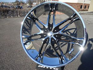 "28"" inch Chrome Black Wheels Rims New Buick Chrysler Limited 506 Wheel Rim 1"