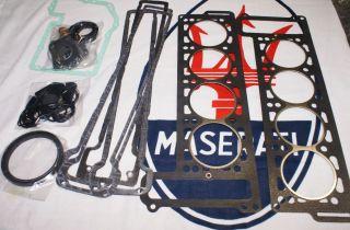 Maserati Ghibli Indy Bora Khamsin Mexico Quattroporte Engine Full Gasket Set