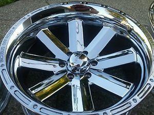 "20"" Incubus Recoil Ford F150 Chrome Wheels Rims 6x135 Raptor 25 4x4"
