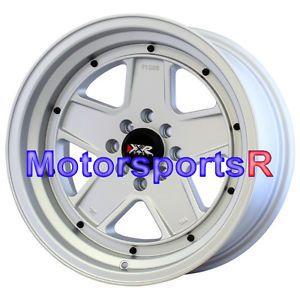 16 16x8 XXR 532 Flat Silver Wheels Rims Deep Dish 4x100 Stance Acura Integra GSR