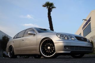 "19"" Lexus SC SC430 MRR GT1 Black Staggered Rims Wheels"