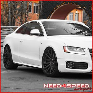 "19"" Audi B8 A5 MRR HR9 Concave Matte Black Wheels Rims"