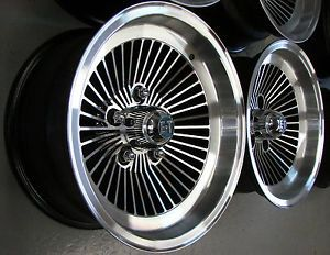 15x7 5 E T II Turbine Wheels Rims Chevy 5x4 75 El Camino Nova Chevelle Corvette