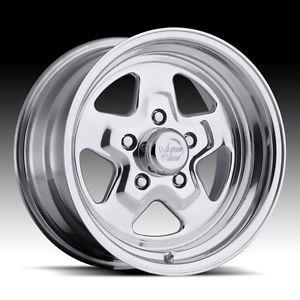 """15"""" inch 5x4 5 Polished Wheels Rims 5 Lug Chrysler Dodge Ford Plymouth Pontiac"""