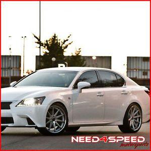 "20"" Lexus LS430 LS Rohana RC10 Concave Silver Staggered Wheels Rims"