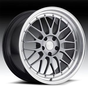 "18"" Eurotek UO03 B LM Hyper Black Staggered Wheels Rims Fits Scion FRS"