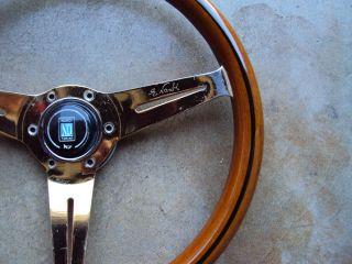 Nardi Wood Steering Wheel Gold Plated 360mm Mercedes Benz Jaguar Rolls Royce JDM