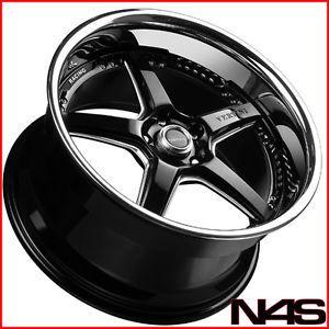 "Brand New 19"" Infiniti G35 Coupe Vertini Drift Black Staggered Wheels Rims"