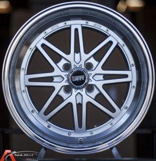 15x7 5 STR505 4x100 15mm Silver Machine Wheels Fits Scion XB Toyota Corolla