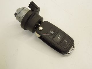 VW Ignition Barrel Lock and 3 Button Key 5K0837202Q